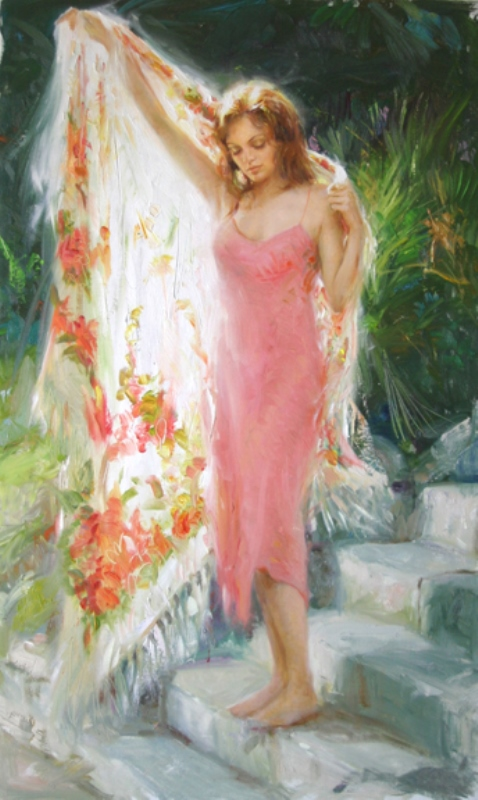 Fancy Shawl – SIGNED BY THE ARTIST – Hand Embellished – GICLEE ON CANVAS – LIMITED EDITION