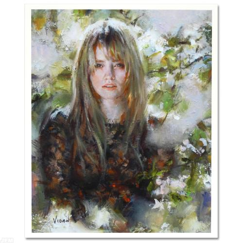 Christine– SIGNED BY THE ARTIST – Hand Embellished – GICLEE ON CANVAS – LIMITED EDITION