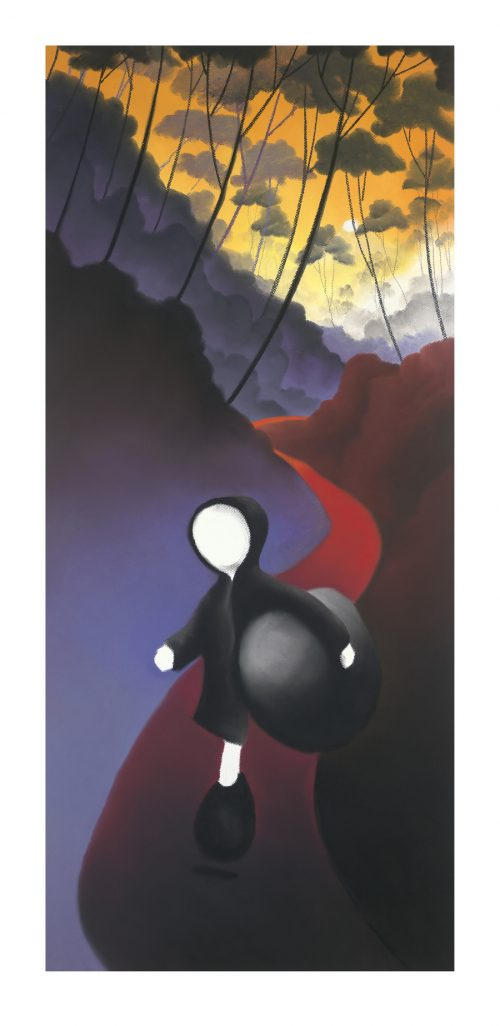 """Mackenzie Thorpe """"Bends In The Path"""" – SIGNED BY THE ARTIST – Limited Edition Mixed Media On Paper"""