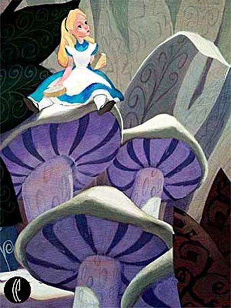 Alice On A Mushroom